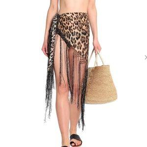 ROBERTO CAVALLI leopard-print shawl wrap NWOT